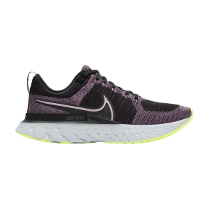 Zapatillas Running Neutras Mujer Nike React Infinity Run Flyknit 2  Violet Dust/Elemental Pink/Black/Cyber CT2423500