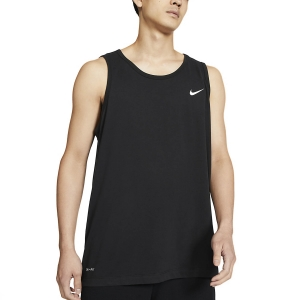 Men's Fitness & Training Tank Nike Solid DriFIT Tank  Black/White AR6069010