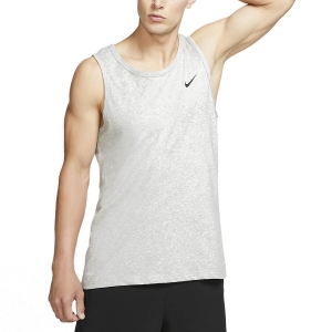 Men's Fitness & Training Tank Nike Solid DriFIT Tank  Dark Grey Heather/Black AR6069063