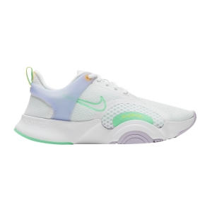 Zapatillas Fitness y Training Mujer Nike Superrep Go 2  White/Green Glow/Infinite Lilac CZ0612135