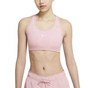 Nike Swoosh Sports Bra - Pink Glaze/White