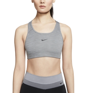 Women's Sports Bra Nike Swoosh Sports Bra  Smoke Grey/Pure Black BV3636084