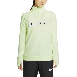 Women's Running Shirt Nike Swoosh Run Shirt  Barely Volt/White CZ9231701