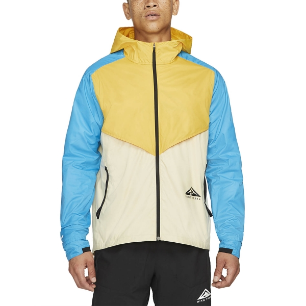 Nike Windrunner Trail Jacket - Solar Flare/Beach Laser/Blue/Black
