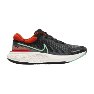 Men's Neutral Running Shoes Nike Zoomx Invincible Run Flyknit  Black/Green Glow/Chile Red CT2228002