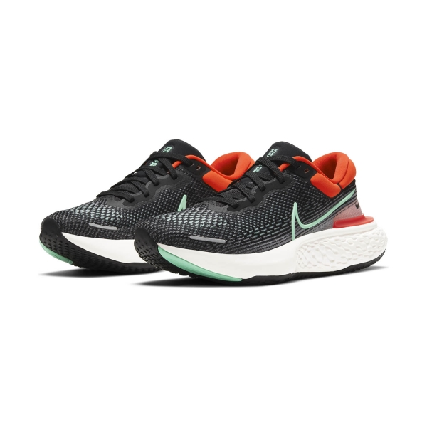 Nike Zoomx Invincible Run Flyknit - Black/Green Glow/Chile Red