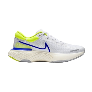 Men's Neutral Running Shoes Nike Zoomx Invincible Run Flyknit  White/Racer Blue/Cyber/Grey Fog CT2228101