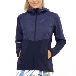 Women's Running Jacket Salomon Agile Jacket  Night Sky/AO LC1487500