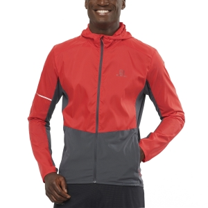 Men's Running Jacket Salomon Agile Jacket  Goji Berry/Ebony LC1494500