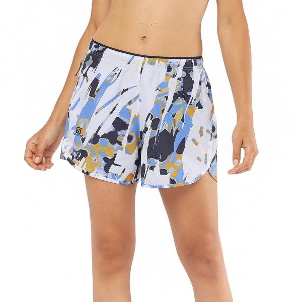 Salomon Agile 4in Shorts - White/AO