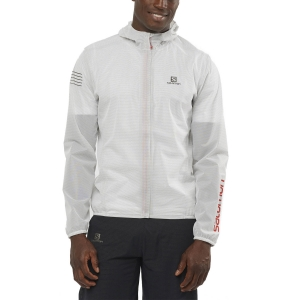 Men's Running Jacket Salomon Bonatti Race WP Jacket  White LC1492100