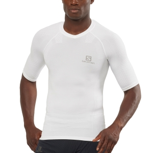 Men's Running T-Shirt Salomon Exo Motion TShirt  White LC1499400