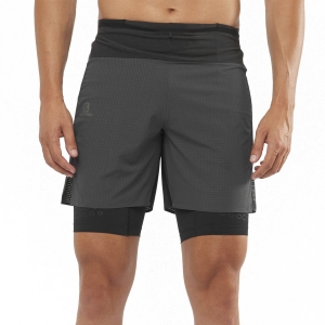 Men's Running Short Salomon Exo Motion 2 in 1 10in Shorts  Black LC1508300