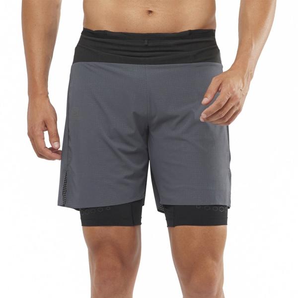 Salomon Exo Motion 2 in 1 10in Shorts - Ebony Black