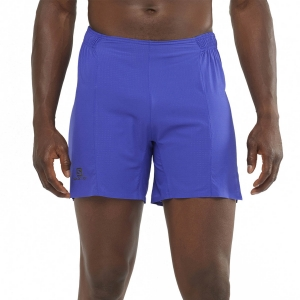 Men's Running Short Salomon Sense Aero Outer 6in Shorts  Clematis Blue LC1473900