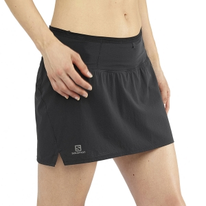 Women's Running Shorts Salomon Sense Skirt  Black LC1280600