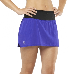 Women's Running Shorts Salomon Sense Skirt  Clematis Blue LC1479700