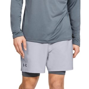 Men's Fitness & Training Short Under Armour Qualifier 2 in 1 5in Shorts  Gray 13453200011