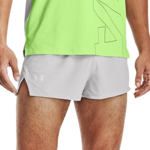 Pantalones cortos Running Hombre Under Armour Draft 2in Shorts  Halo Gray/Hyper Green/Reflective 13614880014
