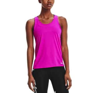 Women's Running Tank Under Armour Fly By Tank  Meteor Pink/Reflective 13613940660