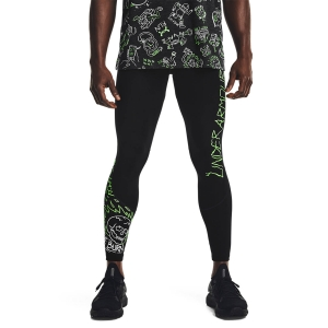 Pantalones Running Hombre Under Armour HeatGear Face Off Tights  Black 13627180001