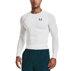 Men's Fitness & Training Shirt and Hoodie Under Armour HeatGear Compression Shirt  White/Black 13615240100