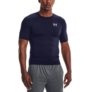 Camisetas Fitness y Training Hombre Under Armour HeatGear Compression Logo Camiseta  Midnight Navy/White 13615180410