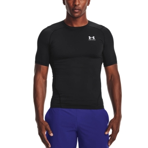 Men's Fitness & Training T-Shirt Under Armour HeatGear Compression Logo TShirt  Black/White 13615180001