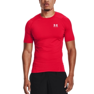 Camisetas Fitness y Training Hombre Under Armour HeatGear Compression Logo Camiseta  Red/White 13615180600