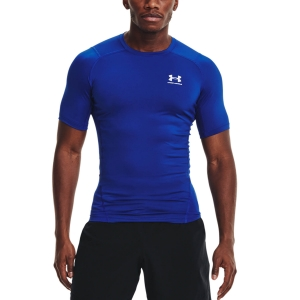 Camisetas Fitness y Training Hombre Under Armour HeatGear Compression Logo Camiseta  Royal/White 13615180400