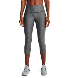 Women's Fitness & Training Pants and Tights Under Armour HiRise Capri Tights  Charcoal Light Heather/White 13653340019