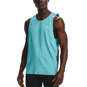 Men's Running Sleeveless Under Armour IsoChill 200 Tank  Cosmos 13614770476