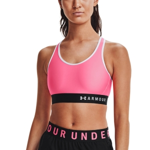 Women's Sports Bra Under Armour Keyhole Sports Bra  Cerise/Black/White 13071960653