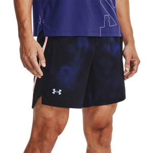 Pantalones cortos Running Hombre Under Armour Launch Print 7in Shorts  Regal/Pop Pink/Reflective 13614950415