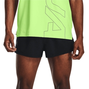 Pantalones cortos Running Hombre Under Armour Launch Split 2in Shorts  Black/Reflective 13614910001