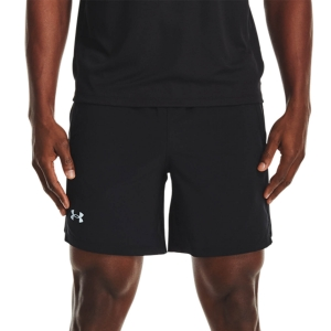 Pantalones cortos Running Hombre Under Armour Launch Tape 7in Shorts  Black/White/Reflective 13627140001