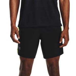 Pantalones cortos Running Hombre Under Armour Launch Tape 7in Shorts  Black/Hyper Green/Reflective 13627140002