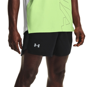 Pantalones cortos Running Hombre Under Armour Launch Woven 5in Shorts  Black/Reflective 13614920001