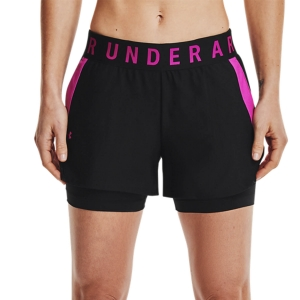 Women's Fitness & Training Short Under Armour Play Up 2 in 1 3in Shorts  Black/Meteor Pink 13519810005