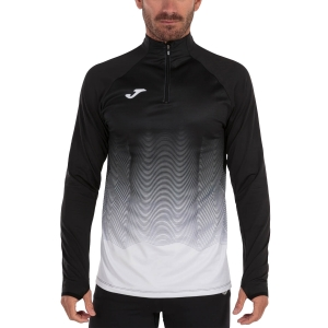 Men's Running Shirt Joma Elite VII Shirt  Black/White 101541.102