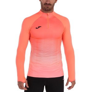 Men's Running Shirt Joma Elite VII Shirt  Fluor Coral/White 101541.040
