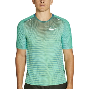 Men's Running T-Shirt Nike Techknit Future Fast TShirt  Green Abyss/Reflective Silver CU6056301