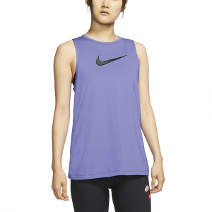 Canotta Fitness e Training Donna Nike Pro Swoosh Canotta  Light Thistle/Black CJ3771569
