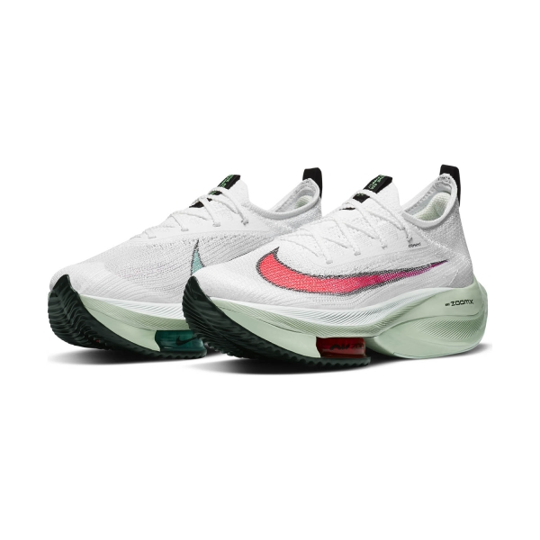 Nike Air Zoom Alphafly Next% - White/Flash Crimson/Jade Aura