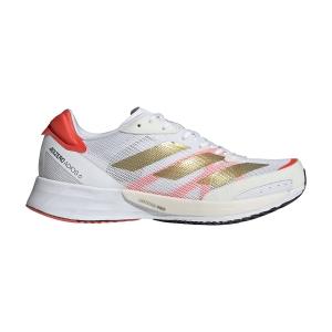 adidas Adizero Adios 6 - Ftwr White/Gold Met/Solar Red