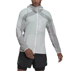 adidas Adizero Marathon Jacket - White/Grey