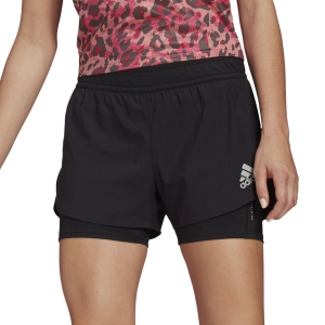 Women's Running Shorts adidas Fast Primeblue 2 in 1 3in Shorts  Black GN4409