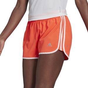 adidas Marathon 20 3in Shorts - App Solar Red/White