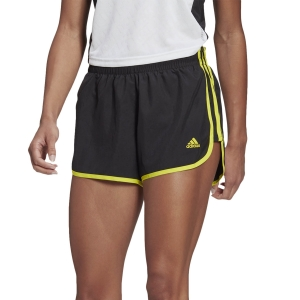 Pantaloncini Running Donna adidas Marathon 20 3in Pantaloncini  Black/Acid Yellow GK5261