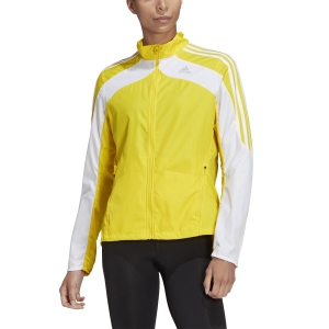 Women's Running Jacket adidas Marathon 3 Stripe Jacket  Yellow GK6063